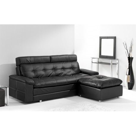 Sofa Cama Libro modelo Durban con sus líneas simples y modernas en varios colores disponibles tapizado en piel sintética blanco, negro y con unas patas cromadas.
