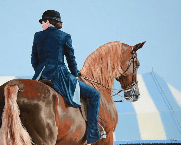www.pegasebuzz.com | Equestrian painter : Lesley Alexander