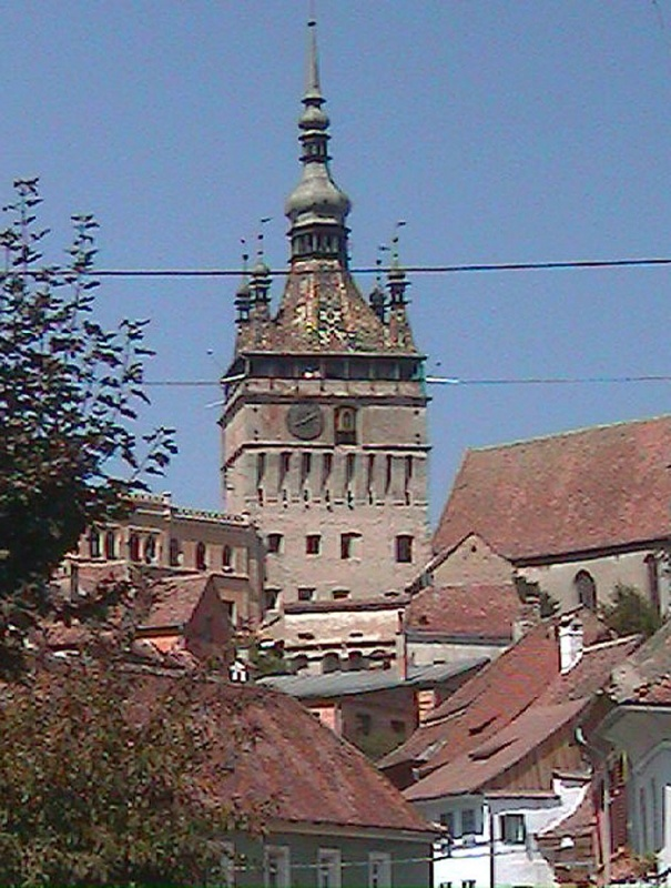 Clock tower in the medieval city of Sighisoara. #travel