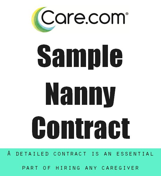 Create a nanny contract so that you and your new nanny understand what to expect from each other. Here's a sample contract to get you started.