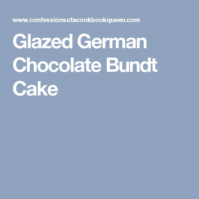 Glazed German Chocolate Bundt Cake