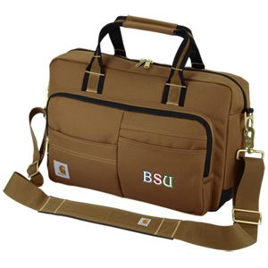 This durable custom laptop bag carries your embroidered logo!