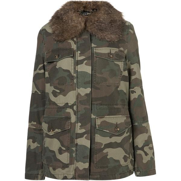 Camo Fur-Lined Jacket ($150) via Polyvore