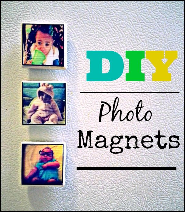 DIY Tile Photo Magnets // Homemade Christmas 12