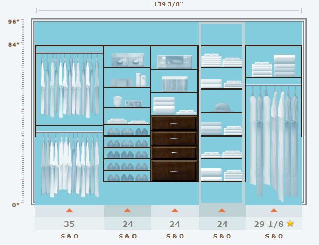 Home Depot Closet Design | ... is one of the 3 walls in our master bedroom closet that I designed