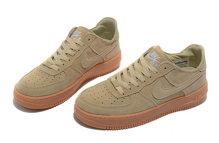 Pin Nike Air Force 1 Basse Suede Beige Chaussure Pour Homme Nike ...