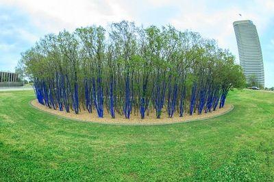 Konstantin Dimopoulos's environmental art installation, The Blue Trees in Houston, TX