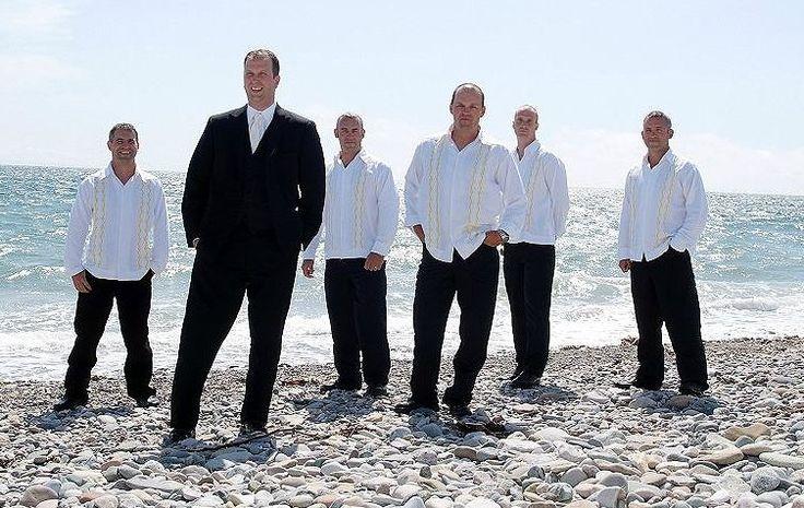 Grooms Beach Wedding Attire | Grooms Can Look Great in Cool Men's Beach Wedding Shirts