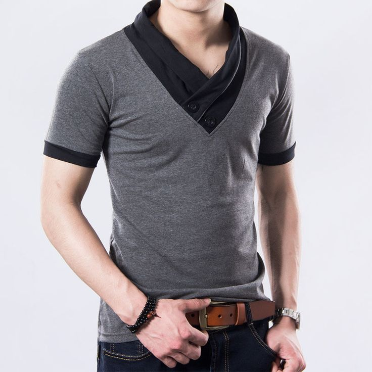 Moderní pánské triko s výrazným límcem šedé – Velikost L Na tento produkt se vztahuje nejen zajímavá sleva, ale také poštovné zdarma! Využij této výhodné nabídky a ušetři na poštovném, stejně jako to udělalo již …