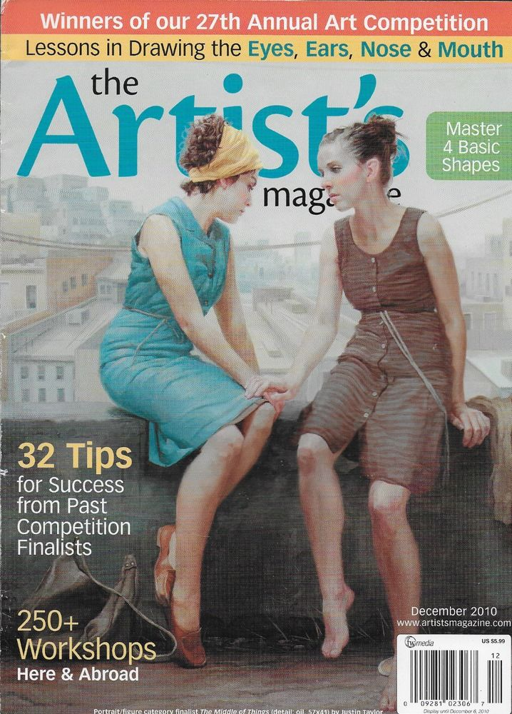 Artists magazine Competition finalist tips Master basic shapes Portrait Figure