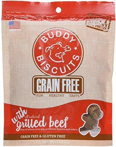 Buddy Biscuits Grain Free Soft & Chewy Treats: Grilled Beef, 5oz.