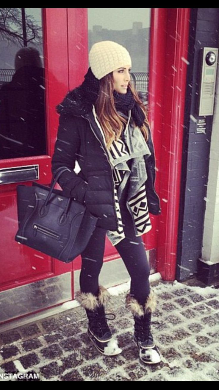 Andi Dorfman in NY Winter Fashion
