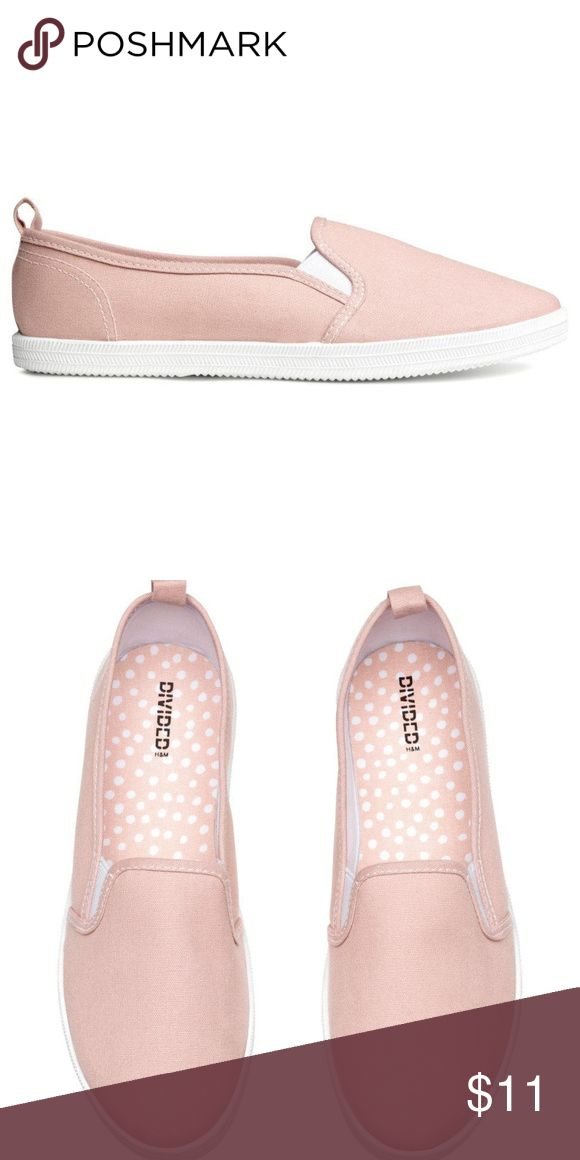 Slip-On Shoes -Slip-On Shoes -Comfortable for daily wear/errands -Light Pink Color -New with tags :) H&M Shoes Flats & Loafers