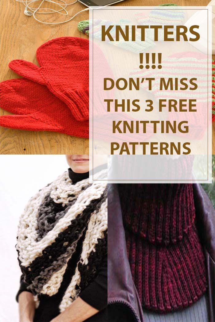 Check Winter Knitting Patterns which are all free to knit. Create warm and comfy knitted clothes to wear and protect you from the cold weather of winter. #knitting | www.housewiveshobbies.com |
