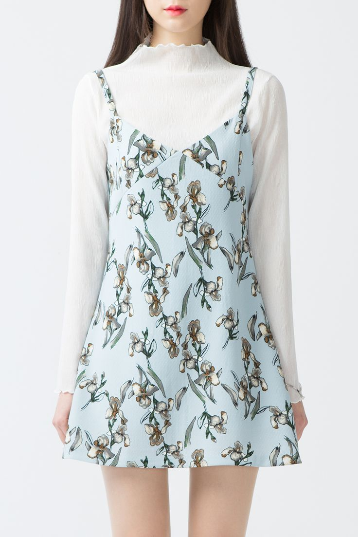 #mixxmix BAUHAUS Floral V-Neck Sleeveless Mini Dress (BXCO) No one would be able to resist your charm when you wear this adorable floral mini dress. #mxm #hideandseek #has #365basic #bauhaus #99bunny#koreanfashionstyle #girlsfashion #lovelywoman #kstyle #koreangirls #streetfashion #twinlook #dailyoutfit #styling