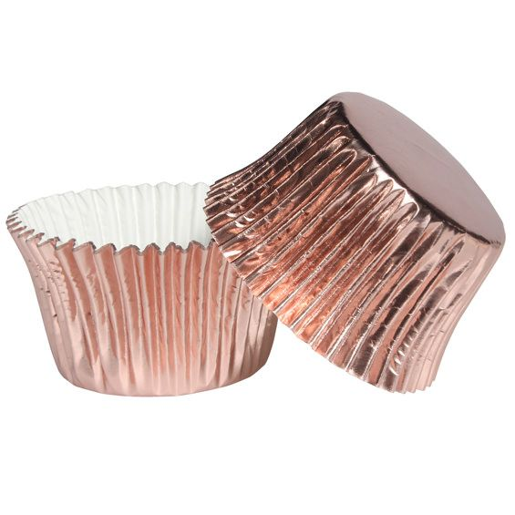 Rose Gold Foil Cupcake Cases - Pack of 45 - To view this product, please visit http://www.craftcompany.co.uk/rose-gold-foil-cupcake-cases-pack-of-45.html