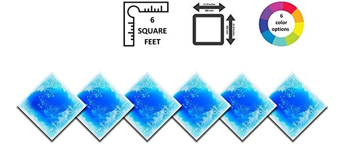 c1b3e92ad3415 Liquid Floor Tile Six Pack - by Playlearn (Blue) 30 x 30 Review ...
