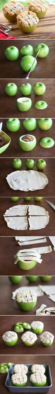 Baked Apple Pies in Apples /explore/fall/ /explore/party/ /search/?q=%23foodstyling&rs=hashtag