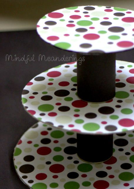 DIY 3 Tier Cupcake stand - Artsy Craftsy Mom