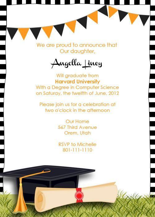 Best 25 Graduation invitation templates ideas – Graduation Party Invitation Template