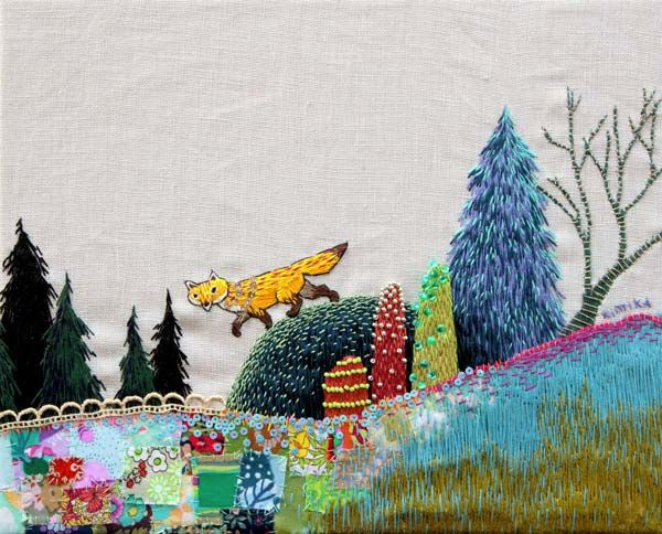 great example of shading and color exploration. I like the landscape patchwork also, and the shadow trees