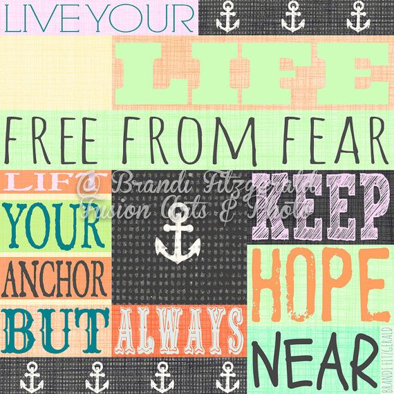 Anchor Quote Rainbow Colors Inspirational by BrandiFitzgerald