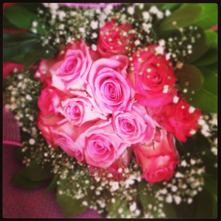 Flower bouquet - pink roses