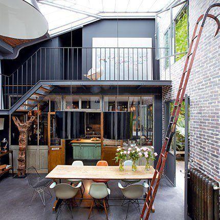 Industrial loft-like home.