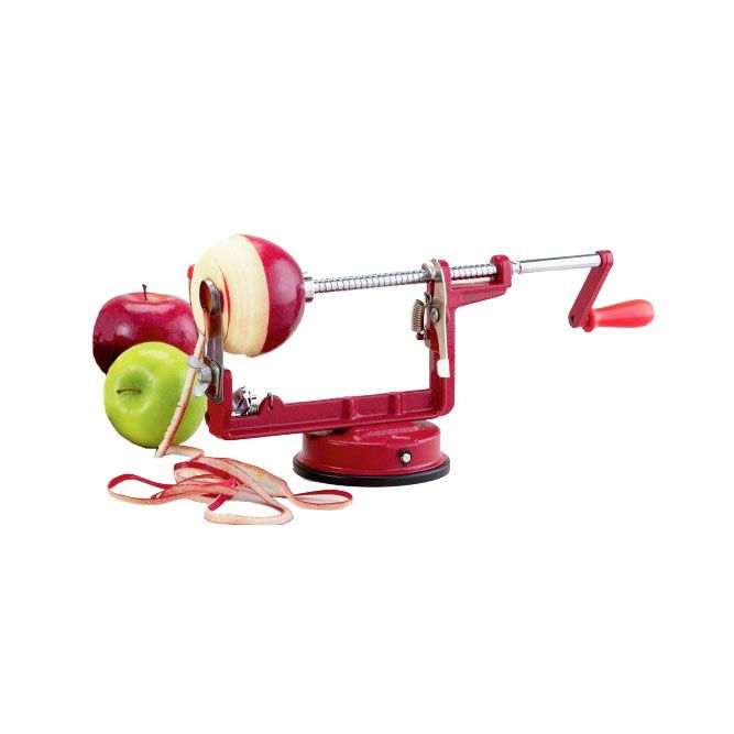 Peeling apples or potatoes can take a long time. Reduce the time and work involved with the Apple Red Peeler and Corer. A suction mount holds the device securely so you can peel and core away.  Find the Apple Red Peeler and Corer, as seen in the Accessories Collection at http://dotandbo.com/category/kitchen-and-dining/cook-and-prep/accessories?utm_source=pinterest&utm_medium=organic&db_sku=HIC0002