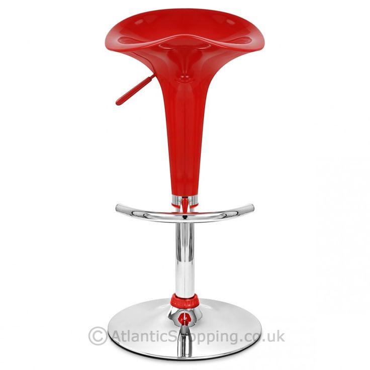 Gloss Coco Red Bar Stool - £29.99