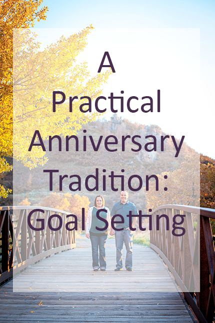 Do something different for your #anniversary this year. Set some #goals to strengthen your #marriage.
