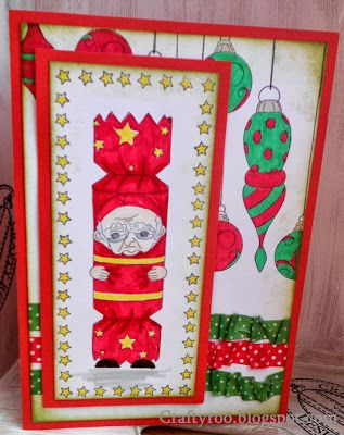 A Christmss card made using Dimension stamps/ Nina Crafts new Christmas stamps!