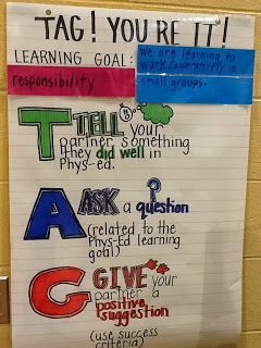 """HPE Merritt: Health and Physical Education: """"T.A.G. You're It"""" Peer Assessment"""
