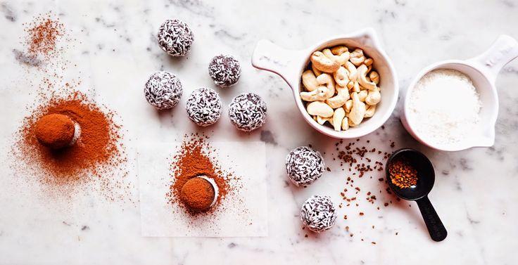 Kristin Holmlund: råa chokladbollar