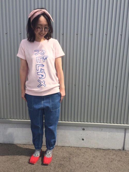 Tシャツはパイル地で気持ちいい! RELAX主張が好きです、こちらのTシャツ! やわらかデニムは夏で