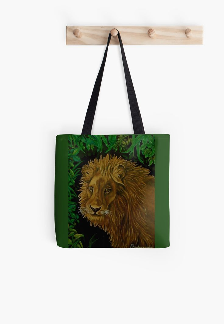 Tote Bag,  green,colorful,cool,beautiful,fancy,unique,trendy,artistic,awesome,fahionable,unusual,accessories,for sale,design,items,products,gifts,presents,ideas,lion,african,animal,wildlife,redbubble