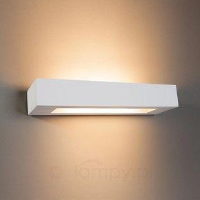 Lampa ścienna prostokątna.