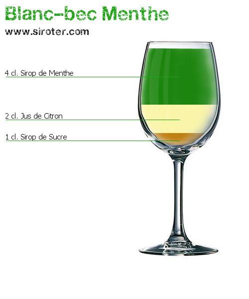 Cocktail Blanc-bec menthe (sans alcool)