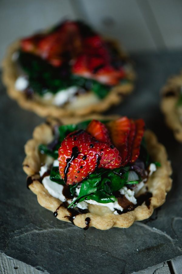 Strawberry Goat Cheese Tartlets