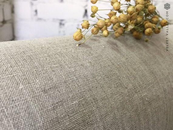 Onthard natuurlijke vlas linnen stof  Taupe eco door VelvetValley
