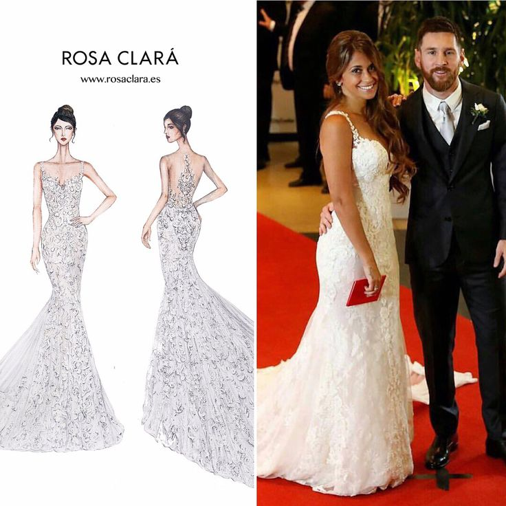 Antonella Roccuzzo se casou hoje com Lionel Messi, com um modelo de renda exclusivo desenhado por @rosa_clara @rosaclarabr (representada no Brasil pela @casamarelanoivas ) O casamento aconteceu em Rosário, na Argentina  #casamento #bodas #vestidodenoiva #antonellaroccuzzo #lionelmessi