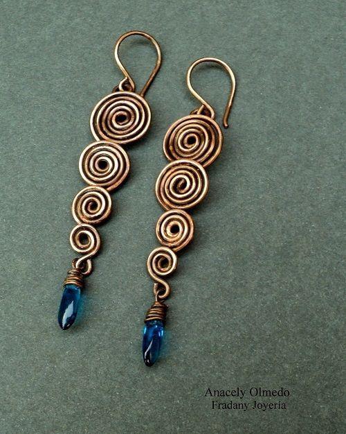 Spiral Wire Work Earrings Tutorial