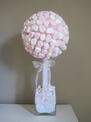 Arbol de besitos o marshmallow tree.
