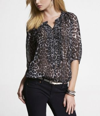 love the chiffon tops they are professional but still fun looking. A great shirt to wear to the office (if your office is not too corporate) and then catch up with the girls over drinks after work!