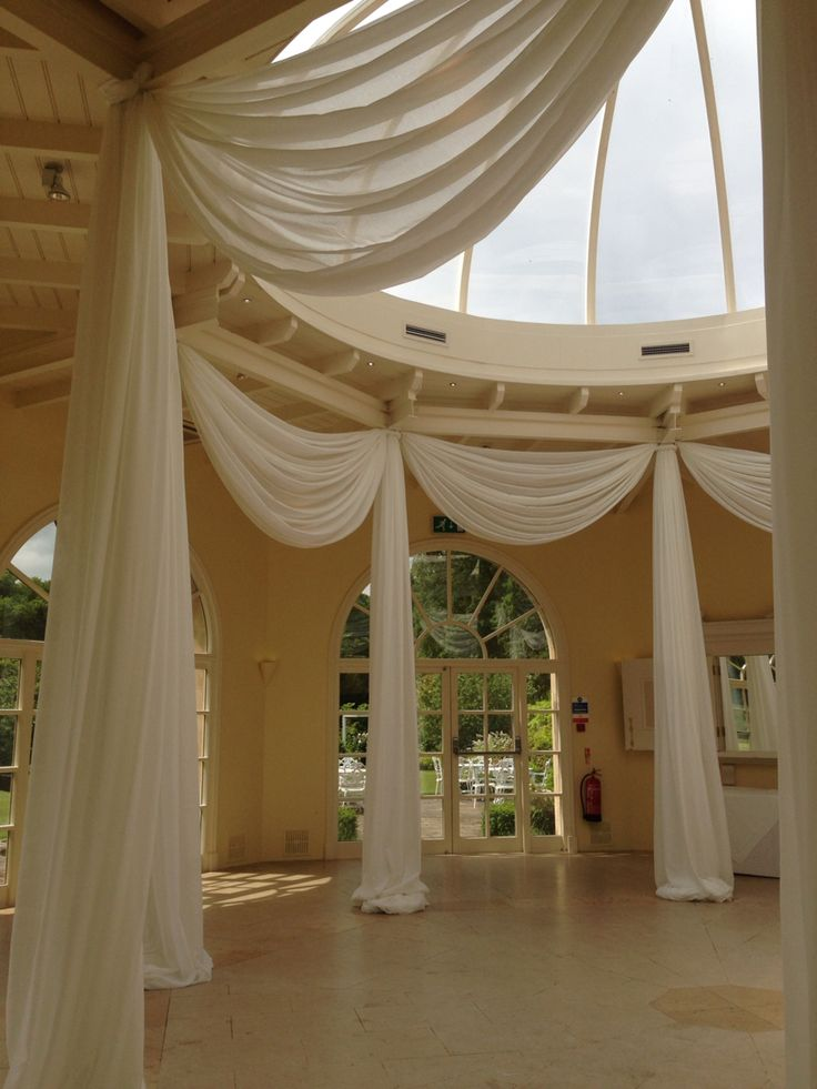 Swags and tails. Venue -Stapleford Park. Wedding.