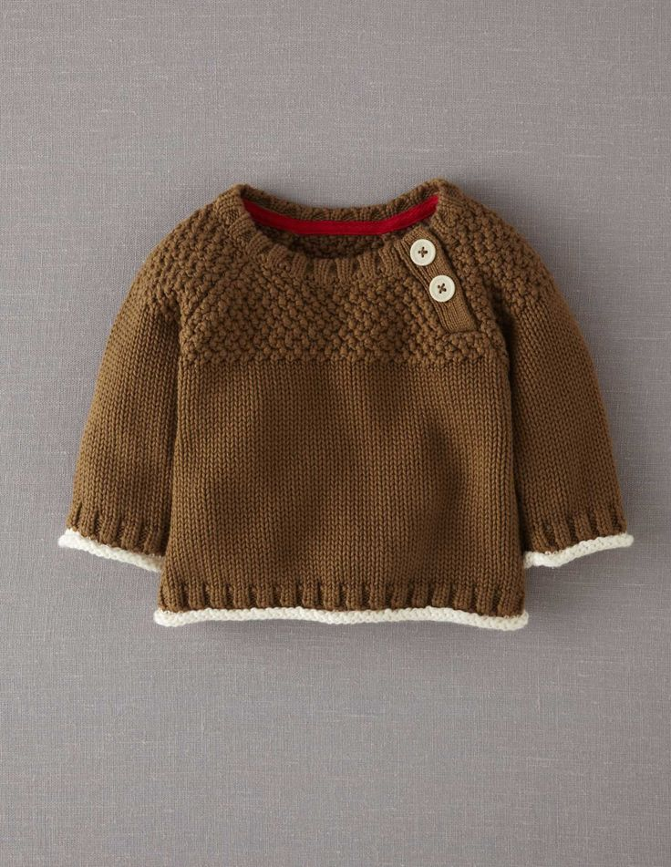 Mini Boden Textured Jumper