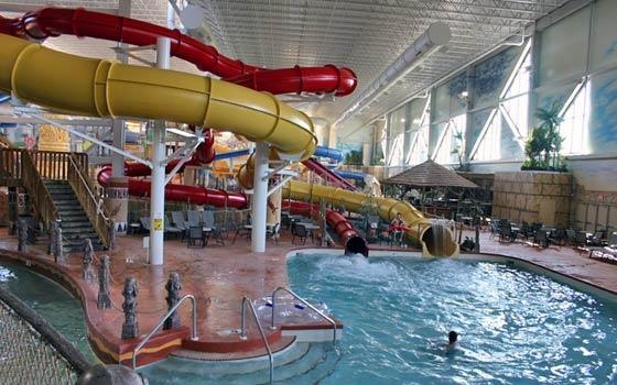 indoor water park at the Kalahari Resort in Wisconsin Dells, WI