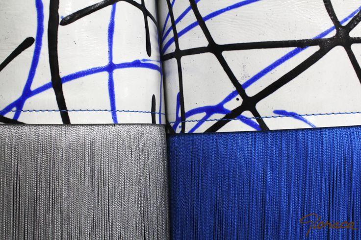 Detalle piel colección eléctrica bolsos Gloriaca exclusivos
