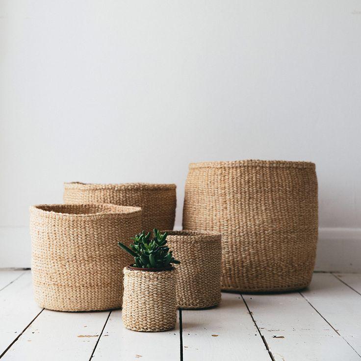 Sisal Woven Basket Natural - The Future Kept - 5