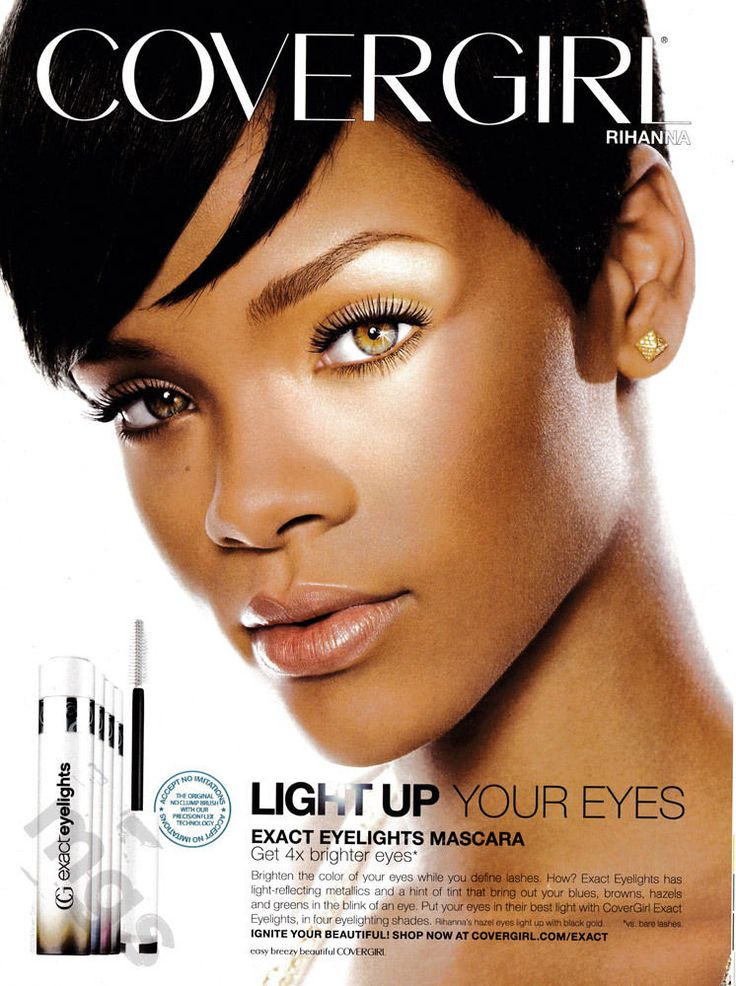 Rihanna 1 Page Clipping 2009 Ad For Covergirl Mascara